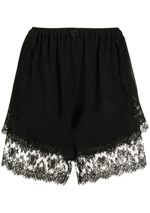 Dolce & Gabbana lace-trim shorts - Black