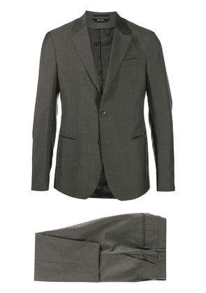 Z Zegna single-breasted suit - Brown