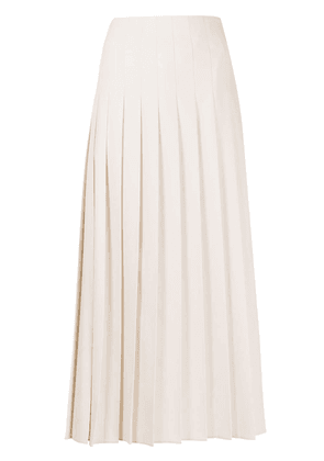 Brunello Cucinelli pleated midi skirt - Neutrals