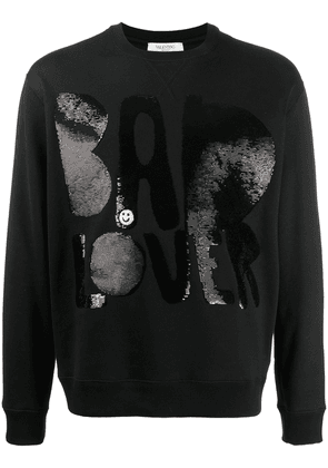 Valentino Bad Lover sequinned sweatshirt - Black