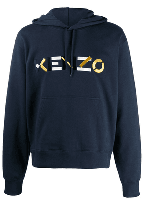 Kenzo embroidered logo hoodie - Blue
