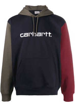 Carhartt WIP embroidered logo colour-block hoodie - Green