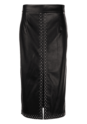 Twin-Set stud-embellished pencil skirt - Black