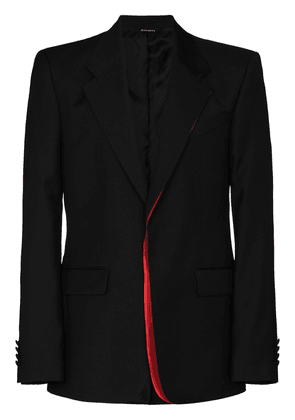 Givenchy contrast-trim single-breasted blazer - Black
