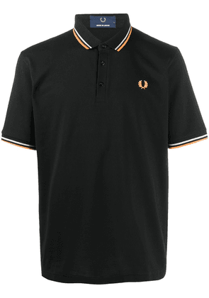 Fred Perry embroidered logo cotton polo shirt - Black