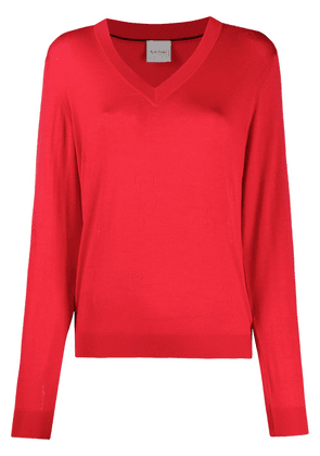 Paul Smith perforated-number sweater - Red