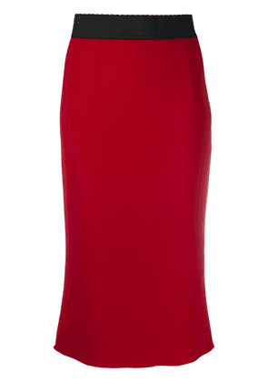 Dolce & Gabbana high waist pencil skirt - Red