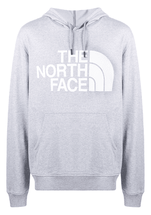 The North Face logo print hooded sweatshirt - Grey