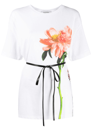 Valentino flower print cotton T-shirt - White