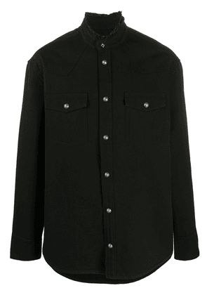 Balmain logo-print denim shirt-jacket - Black