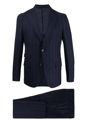 Eleventy woven pinstripe single-breasted suit - Blue