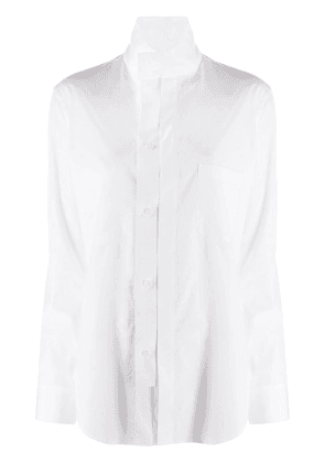 Y's stand-up collar shirt - White