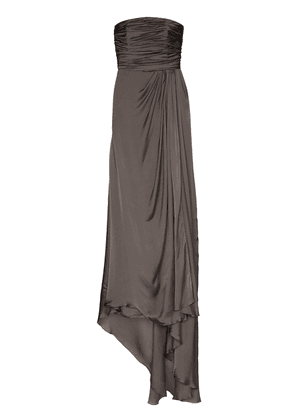 Alexandre Vauthier draped bustier gown - Grey