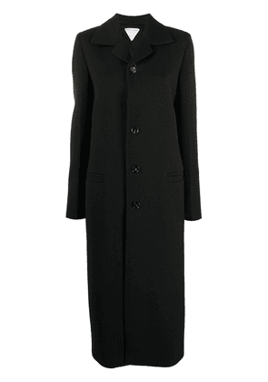 Bottega Veneta single-breasted long coat - Black