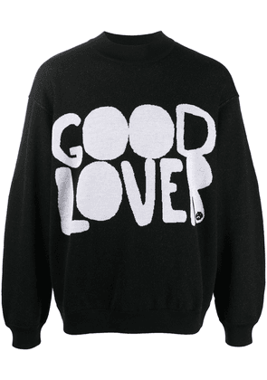 Valentino Good Lover intarsia jumper - Black