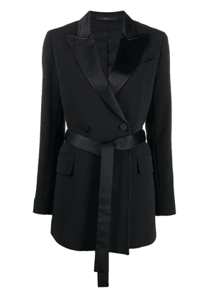 Paul Smith double-breasted tied coat - Black