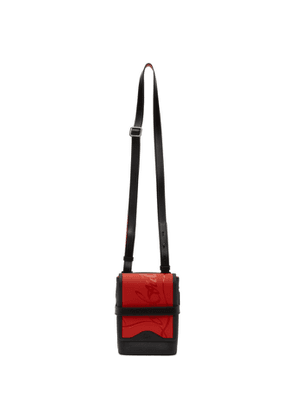 Christian Louboutin Black and Red Benech Reporter Bag