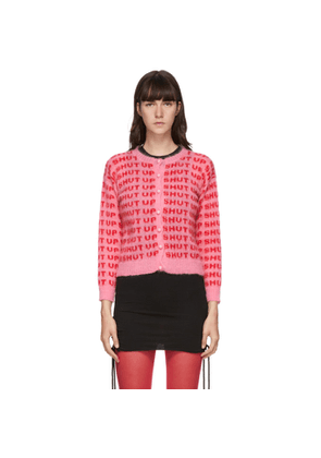 Ashley Williams Pink and Red Mohair Shut Up Cardigan