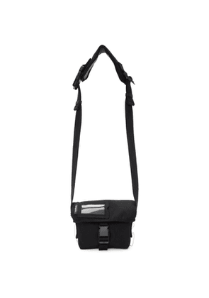 Acne Studios Black Canvas Mini Messenger Bag