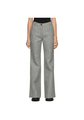 Peter Do Grey Wool Flared Trousers