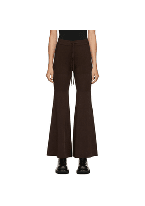 Peter Do Brown Flared Knit Pant