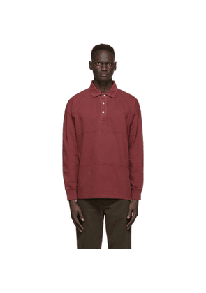 Schnaydermans Red Garment Dyed Polo Shirt