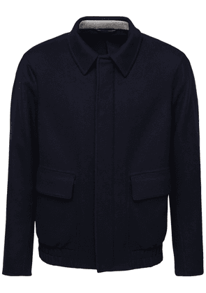 Double Cashmere Bomber Jacket