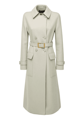 Double Breasted Melton Cashmere Coat