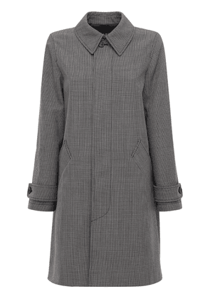 Houndstooth Wool Blend Coat
