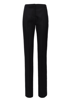 Wool Blend Straight Leg Pants W/ Bands