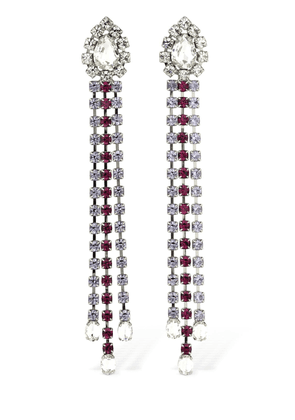 Multicolor Crystal Fringe Drop Earrings