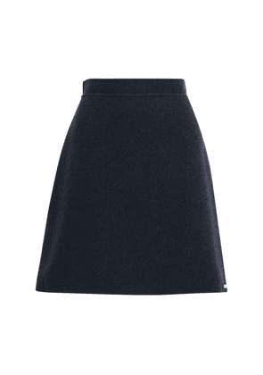 Wool A Line Mini Skirt