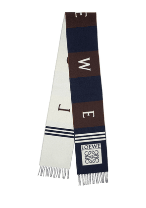 Logo Football Wool & Cashmere Scarf
