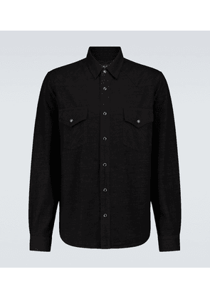 Lurex denim Western shirt