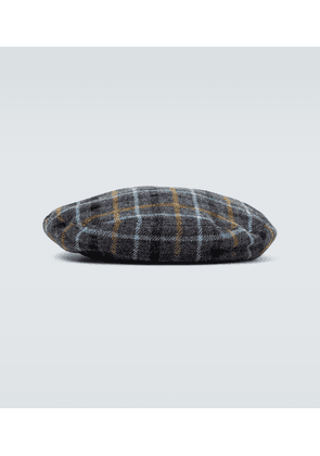 Wool checked beret