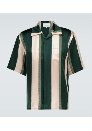Laurel striped silk bowling shirt