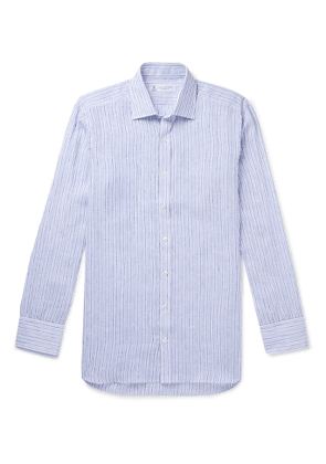 Turnbull & Asser - Striped Linen Shirt - Men - Blue