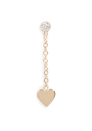 Zoe Chicco 14k Gold 2mm Prong Set Heart Stud