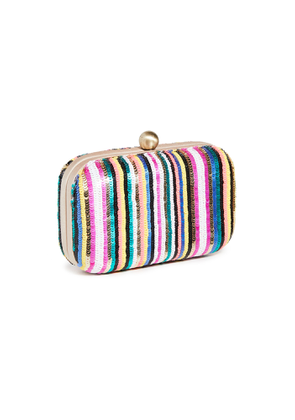 Santi Sequin Stripe Clutch