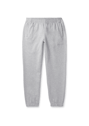 adidas Consortium - Pharrell Williams Embroidered French Cotton-Terry Sweatpants - Men - Gray