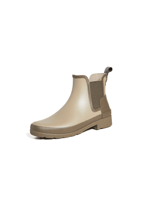 Hunter Boots Refined Texture Block Chelsea Boots