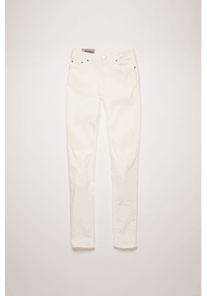 Acne Studios Peg White Color High-rise skinny jeans