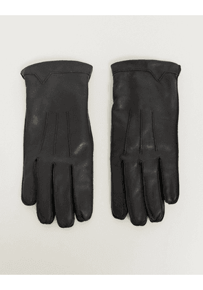 French Connection classic leather gloves-Black