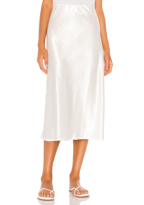 LNA Bias Skirt in White. Size XS.