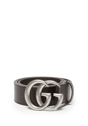 Gucci - GG Leather Belt - Mens - Brown
