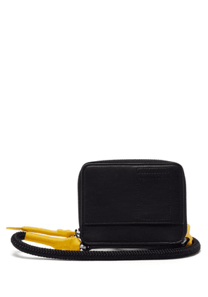 Rick Owens - Small Coated-cord Leather Cross-body Bag - Mens - Black
