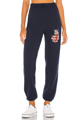Boys Lie I Am Not Where You Left Me Sweatpants in Navy. Size L,S,XL.