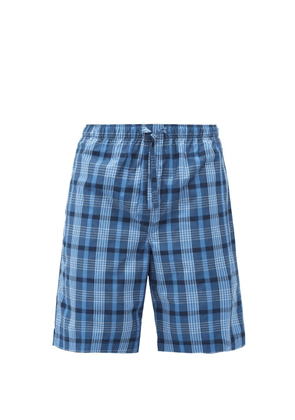Derek Rose - Barker Checked Cotton Shorts - Mens - Blue Multi