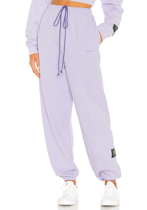 DANZY Classic Sweatsuit Collection Pant in Lavender. Size L.