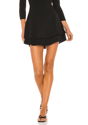 1. STATE Tiered Mini Skirt in Black. Size XS,S,M,XL.